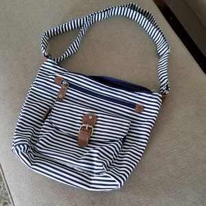 Navy and White Purse